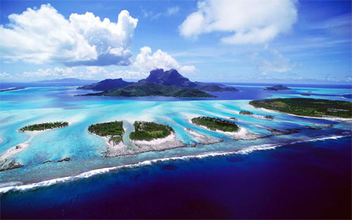 Blue Sky And Island wallpaper