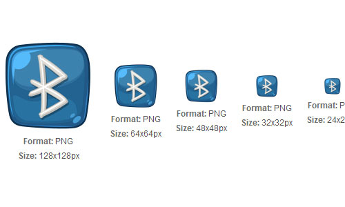 Cool Bluetooth Logo icon