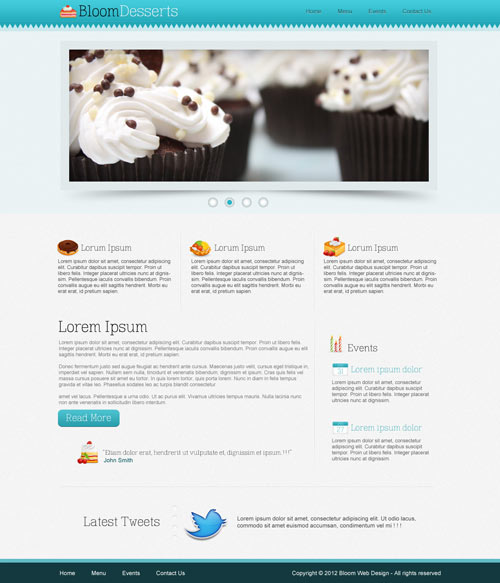 Design a Food/Cafe Website Template in Photoshop (+Free PSD)
