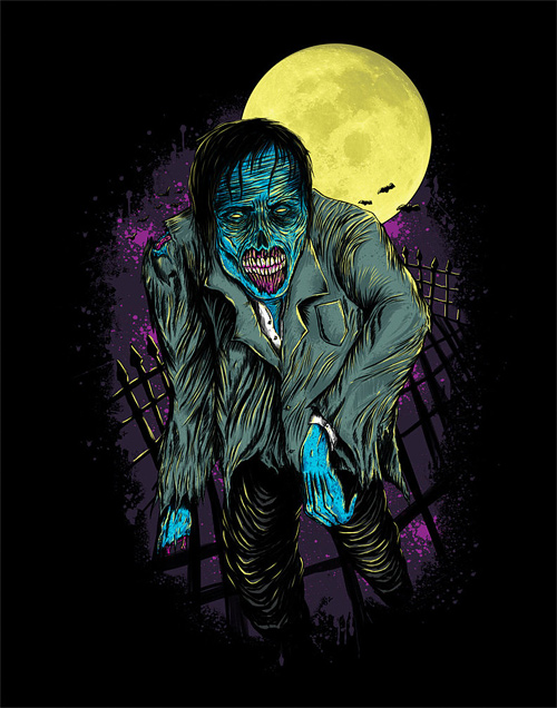 Pop zombie halloween artwork illustration