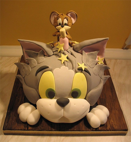Tom and jerry unusual cake design cool