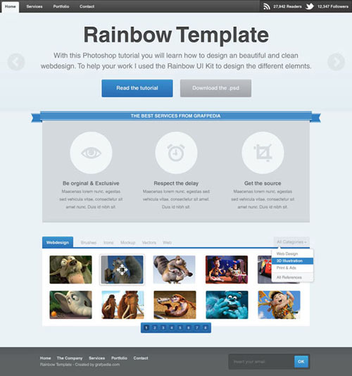 DESIGN A NICE LAYOUT WITH RAINBOW UI KIT