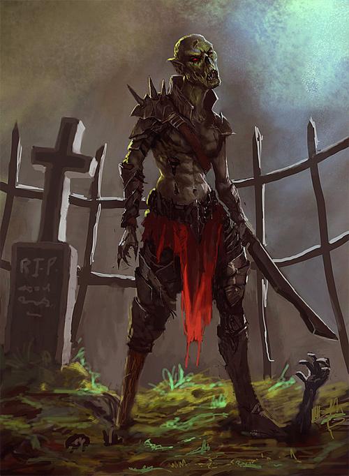 Fighter zombie halloween artwork illustration