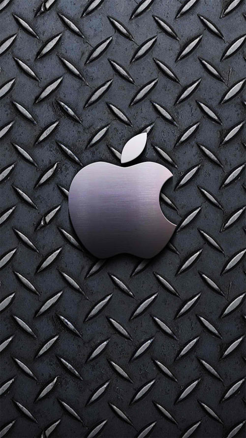 Apple Steel iPhone Wallpaper