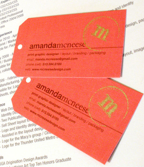 Business Card for: Amanda McNeese