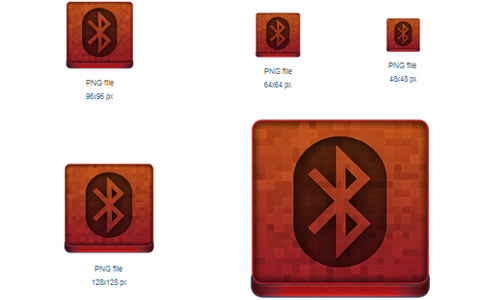 Red Bluetooth Icon