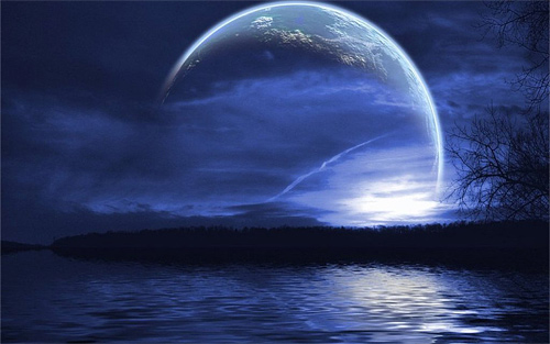 Digital amazing cool moon wallpaper