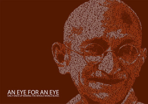 Gandhi quotes artwork picture illustration
