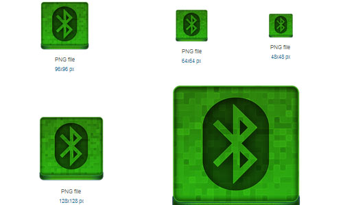 Green Bluetooth Icon