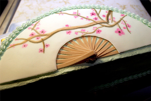 Japanese fan unusual cake design cool