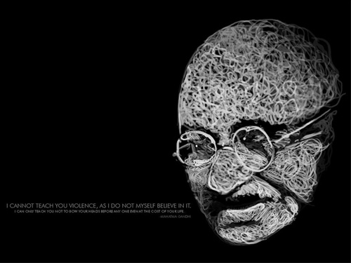 gandhi artwork picture illustration quote typography