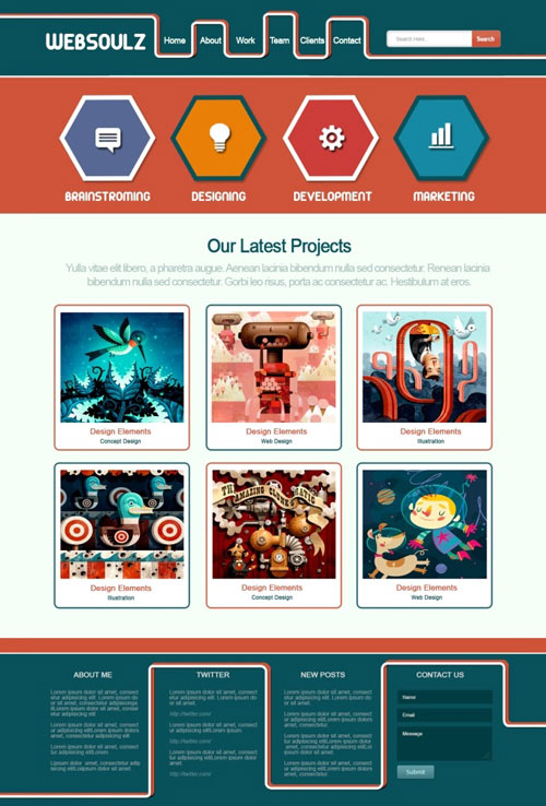 Create a Super Trendy Retro Layout in Photoshop