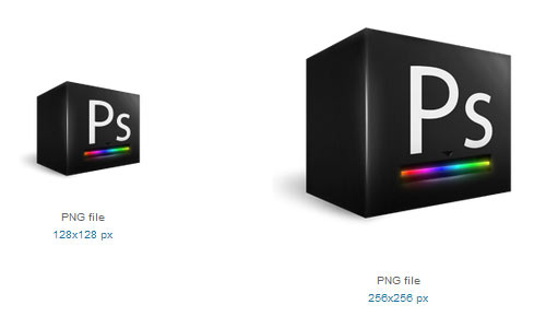 Photoshop Cube Icon