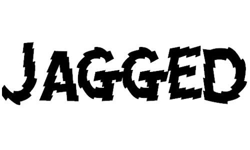 jagged font