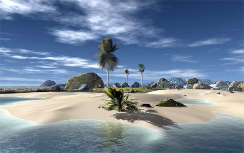 Beautiful little Island Wallpaper
