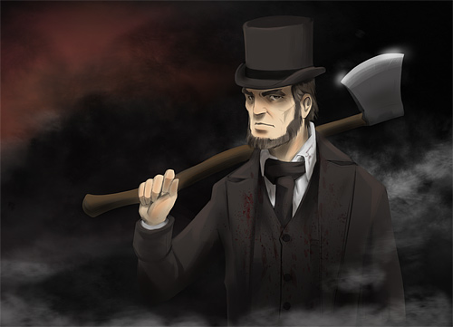 Axe vampire hunter abraham lincoln artwork illustration