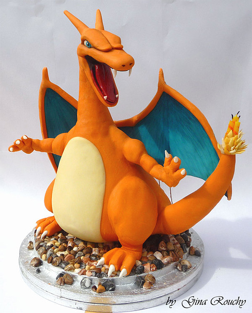 Pokemon charizard unusual cake design cool