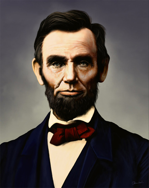 Photo paint abraham lincoln artwork illustration