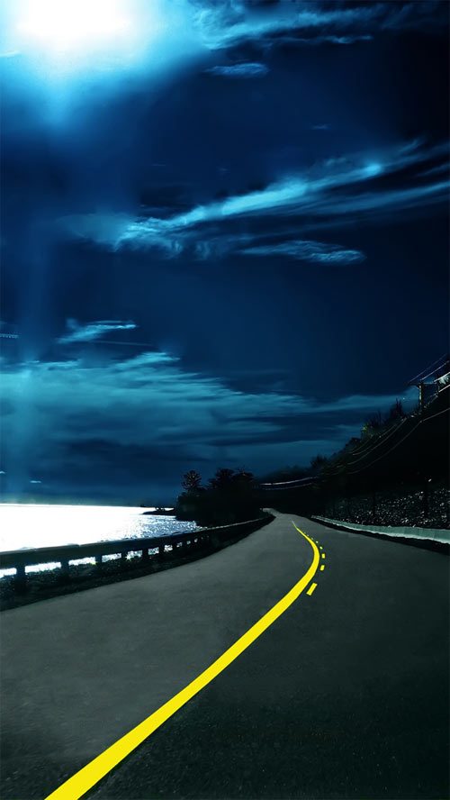 Highway Nights iPhone 5 Wallpaper