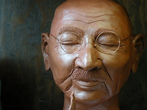 gandhi artwork picture illustration sculpture