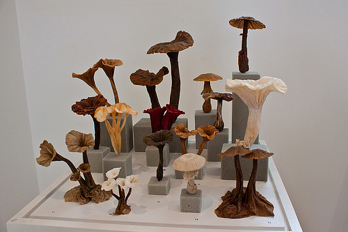 Mushroom plant origami artwork paper design
