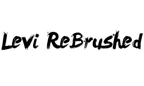 levi rebrushed font