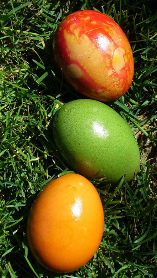 three easter eggs iPhone 5 Wallpaper