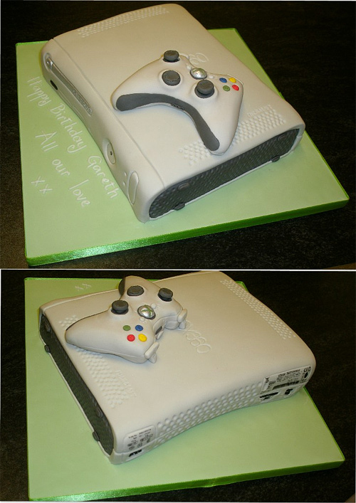 X box 360 game console unusual cake design cool