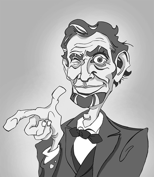 Cartoon abraham lincoln artwork illustration