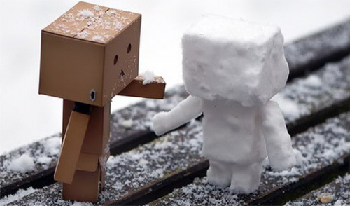 Snowman danbo photography cute