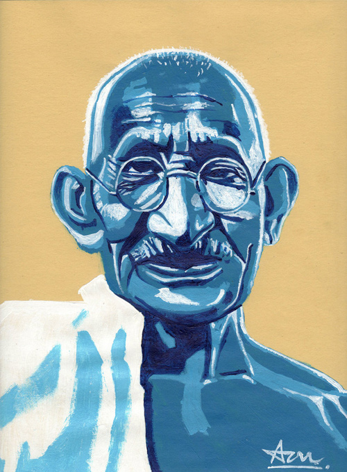 gandhi artwork picture illustration cool pop art