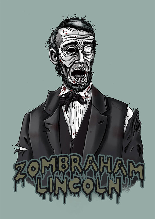 Zombie abraham lincoln artwork illustration