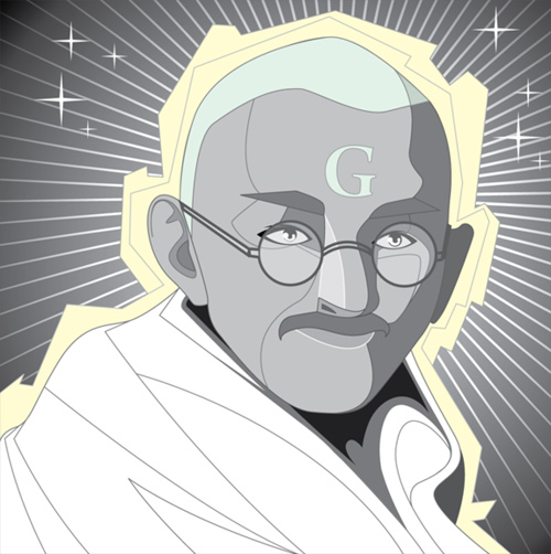 gandhi artwork picture illustration vector