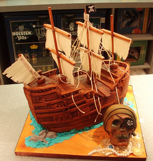 Pirate ship unusual cake design cool