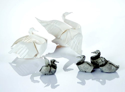 Swan duck origami artwork paper design