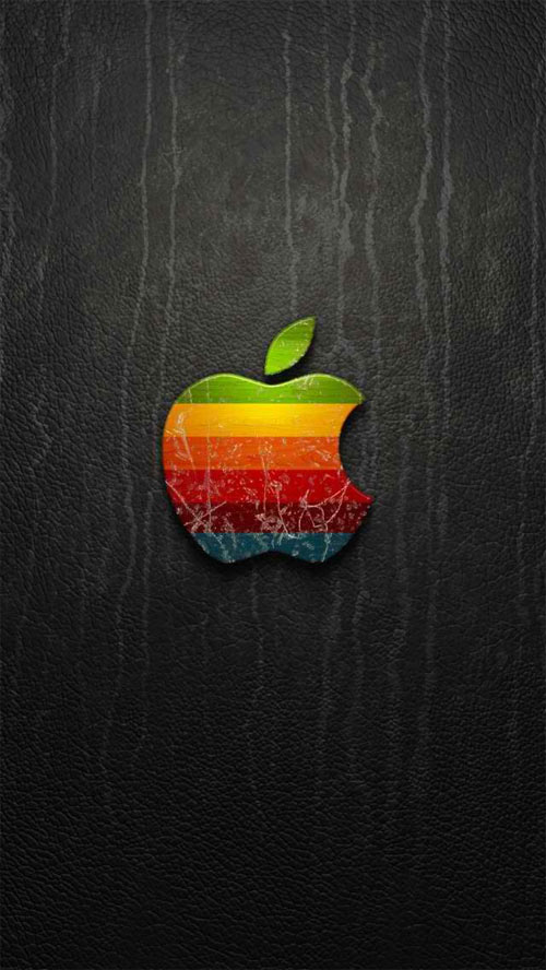 Rainbow Apple Logo iPhone 5 Wallpaper