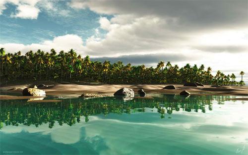 Tropical Island Fantasy wallpaper