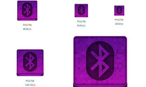 Pink Bluetooth Icon
