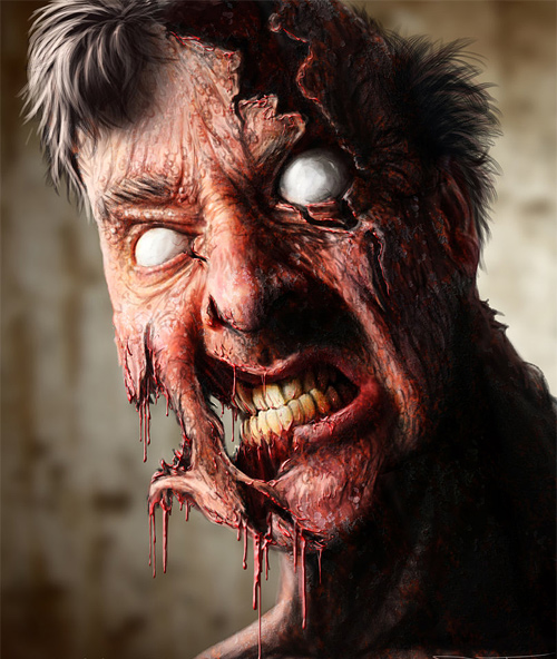 Cool zombie halloween artwork illustration