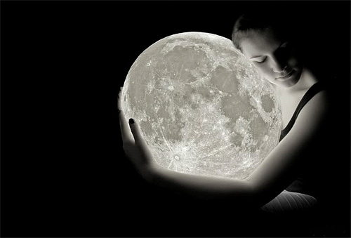 Her female girl cool moon wallpaper