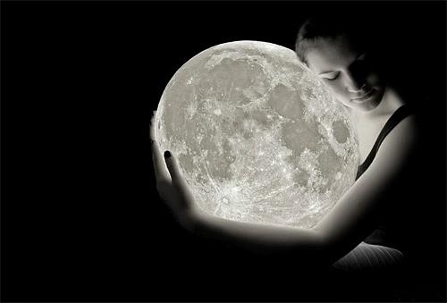Her female girl cool moon wallpaper