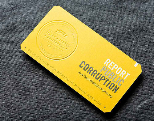 Business Card for: Report Public Corruption
