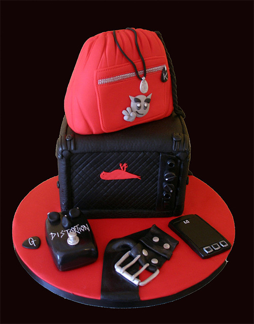 Amplifier rocking unusual cake design cool