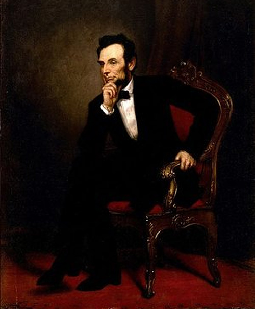 Full body painting abraham lincoln artwork illustration