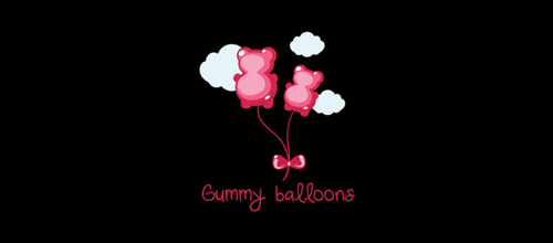 gummy bear & balloon logo