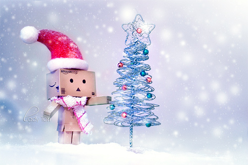 Christmas tree snow danbo photography cute