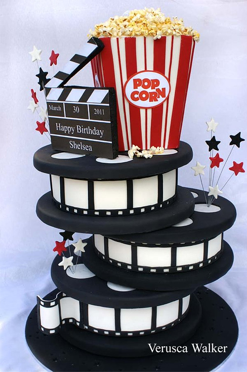 Cinema film movie popcorn unusual cake design cool