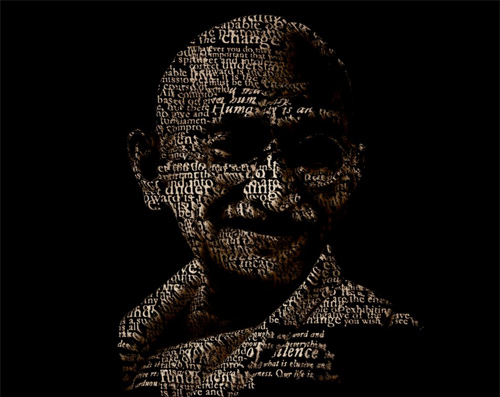 Mahatma Gandhi Typography artwork picture illustration