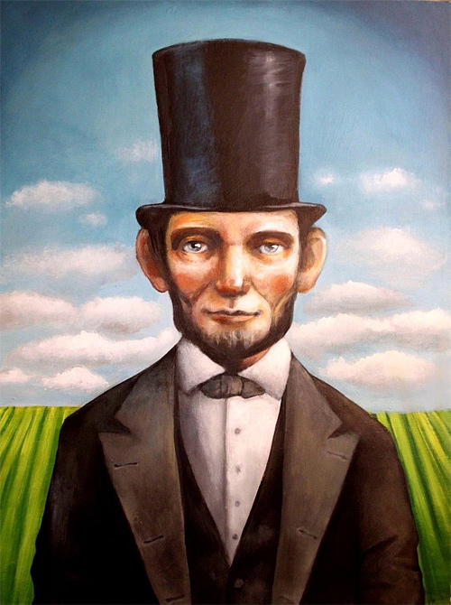 Acrylic painting abraham lincoln artwork illustration