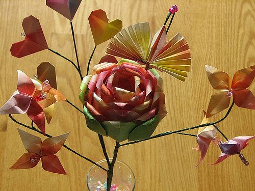 Bouquet origami artwork paper design